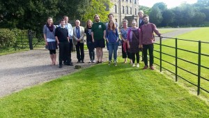 Ordinands with Rt Revd Paul Ferguson, Bishop of Whitby (4th from left) and Mrs Black (4th from right) outside Ormesby Hall