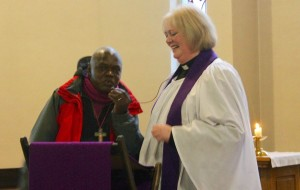 Revd Jen and Archbishop Sentamu