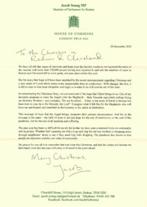 Image of Christmas message from Jacob Young MP
